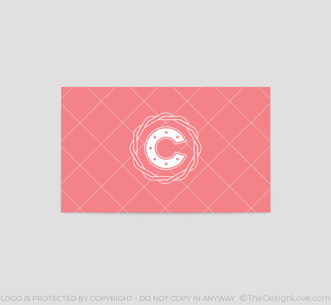 Letter c logo business card template the design love for Puff and pass cover letter