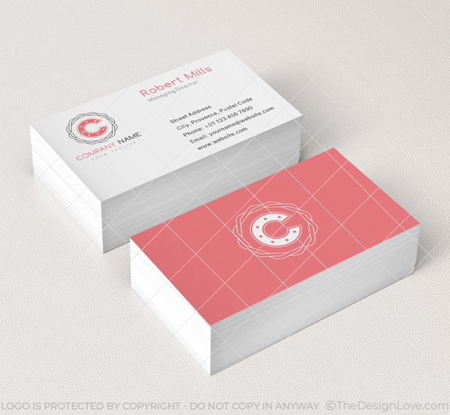 Letter c logo business card template the design love 059 letter c logo business card template colourmoves