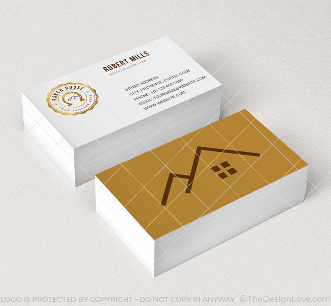 House business cards the best project on h3danieledance ranch house logo business card template the design love house business cards colourmoves