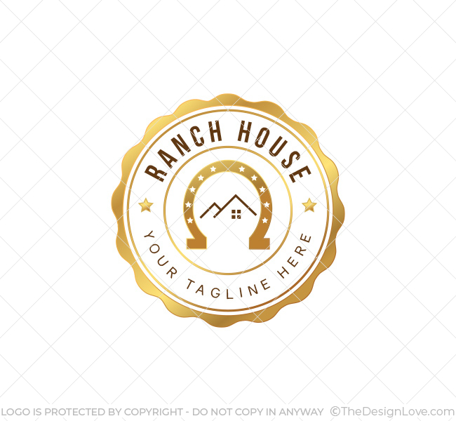 Ranch House Logo & Business Card Template on