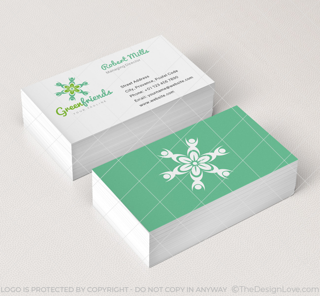 Green friends logo business card template the design love 061 green afriends logo business card template reheart Gallery