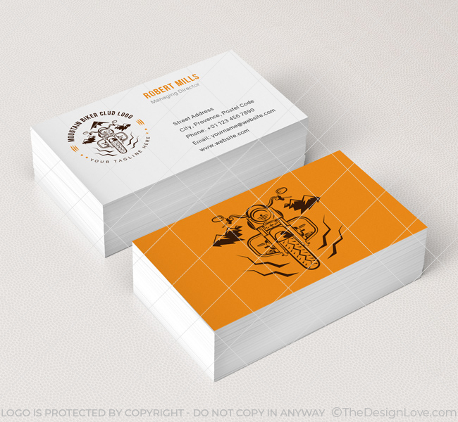 Biker club logo business card template the design love 062 biker club logo business card template reheart Gallery