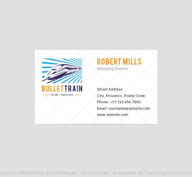 063-Bullet-Train-Logo-&-Business-Card-Template-Front