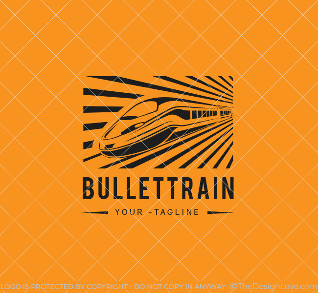bullet train logo  u0026 business card template