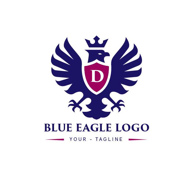 Blue Eagle Logo Business Card Template The Design Love