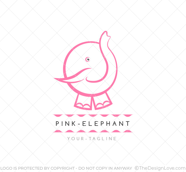 Pink Elephant Logo Amp Business Card Template The Design Love