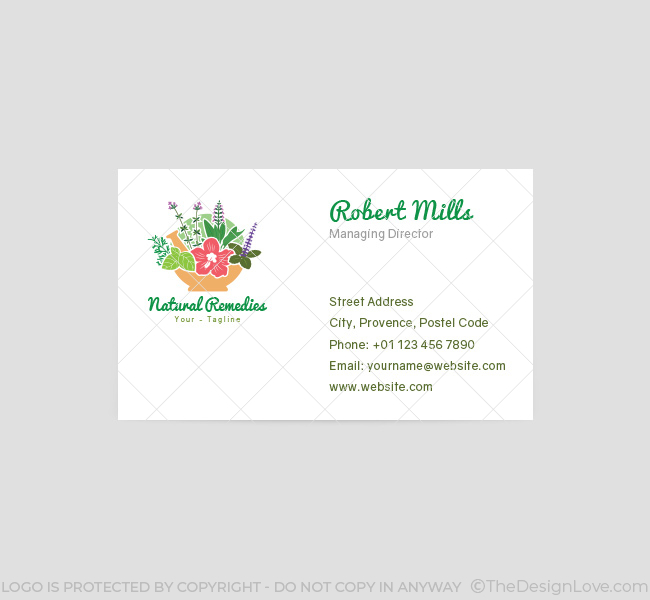066-Naturial-Remedies-Logo-&-Business-Card-Template-Front