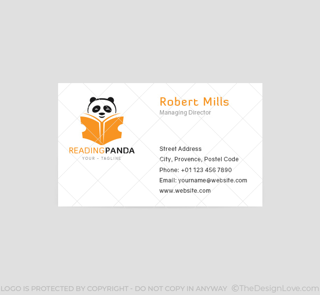 067-Reading-Panda-Logo-&-Business-Card-Template-Front