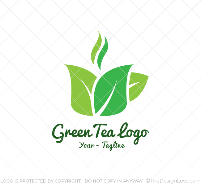 Green tea logo business card template the design love green tea logo wajeb Images