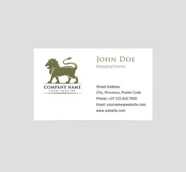 068-Lion-Mascot-Logo-&-Business-Card-Template-Front