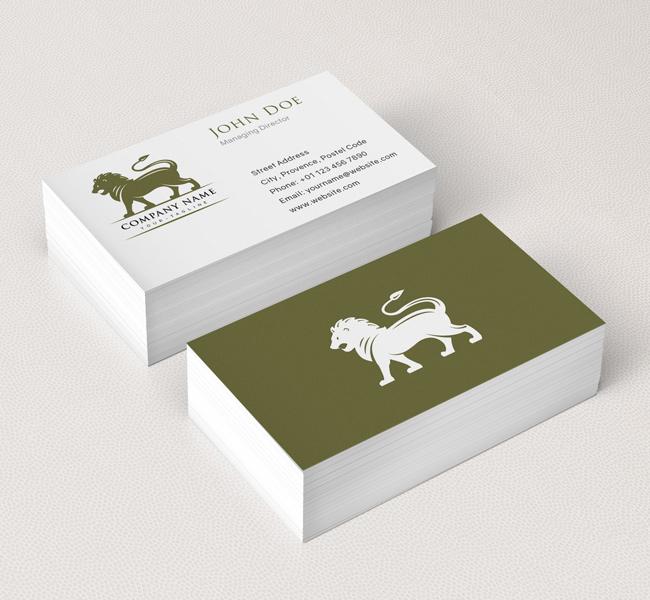 Lion Mascot Logo & Business Card Template