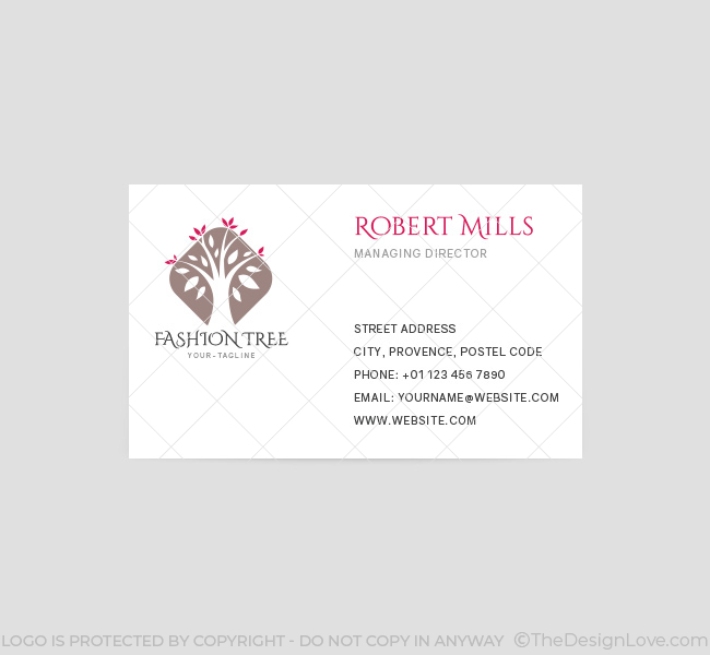 075 Fashion Tree Logo & Business Card Template - The Design Love