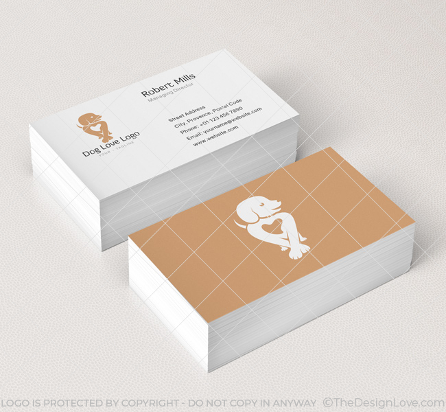 Dog Love Logo Amp Business Card Template The Design Love
