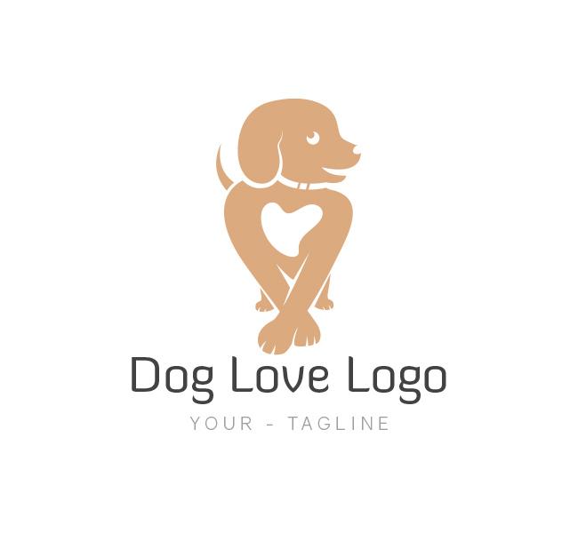 Fabulous Dog Love Logo & Business Card Template - The Design Love UO28