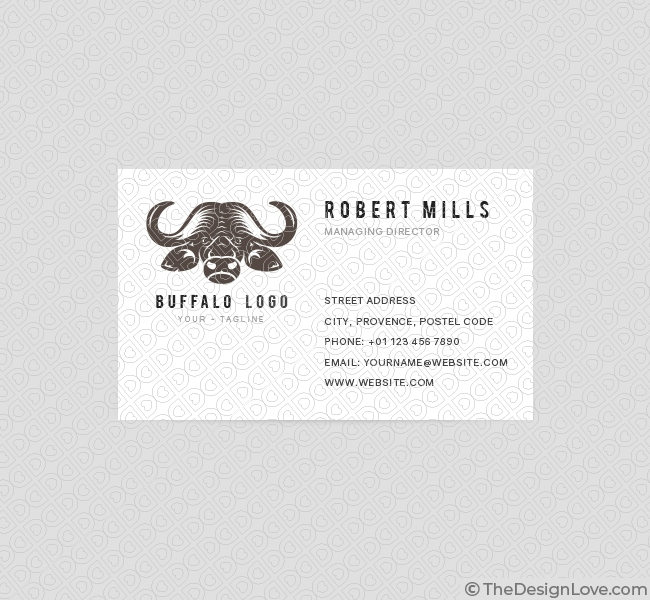 Buffalo logo business card template the design love 077 buffalo logo business card template front cheaphphosting Gallery
