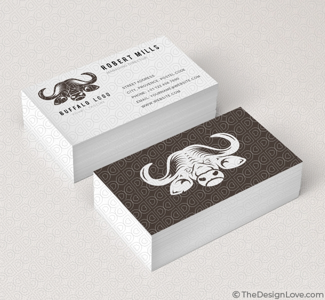 Buffalo logo business card template the design love 077 buffalo logo business card template cheaphphosting Images