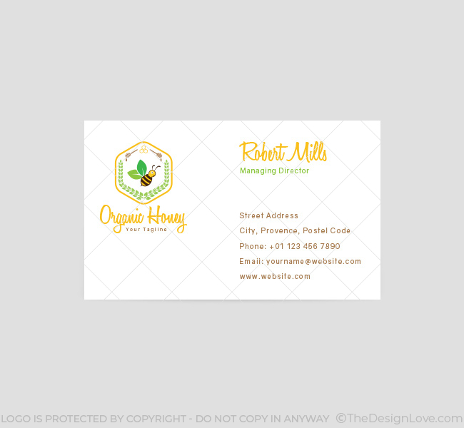 080-Organic-Honey-Business-Card-Template-Front