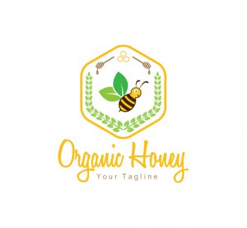 Organic Honey Logo & Business Card Template