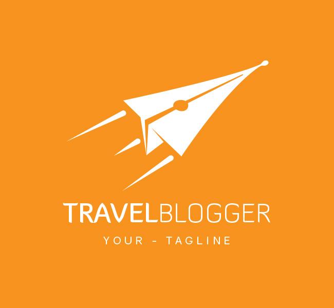 Pre-Made-Travel-Blogger-Logo-White