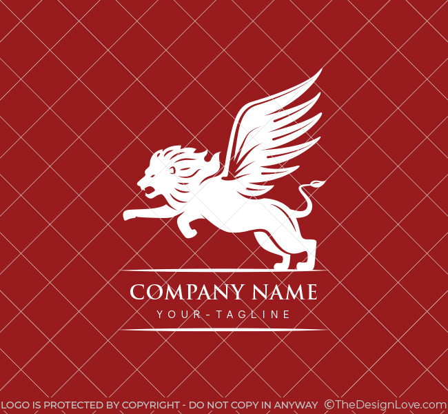 Winged Lion Logo Amp Business Card Template The Design Love
