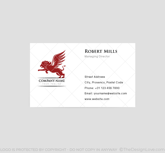 Winged-Lion-Business-Card-Template-Front