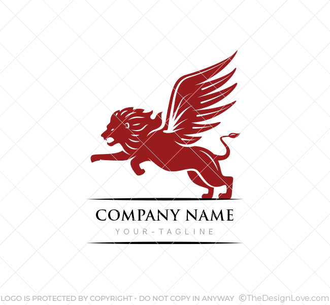 Winged lion logo business card template the design love winged lion logo cheaphphosting Choice Image