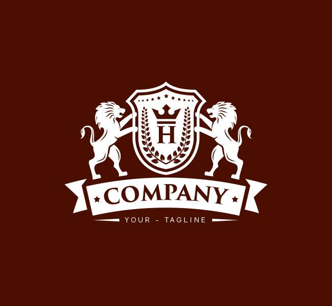 Pre-Made-Lion-Crest-Crown-Logo