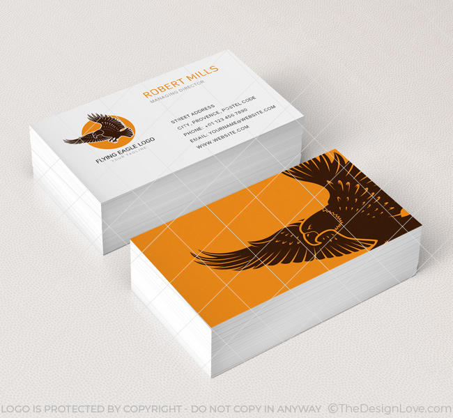 Flying eagle logo business card template the design love flying eagle business card mockup 1 colourmoves