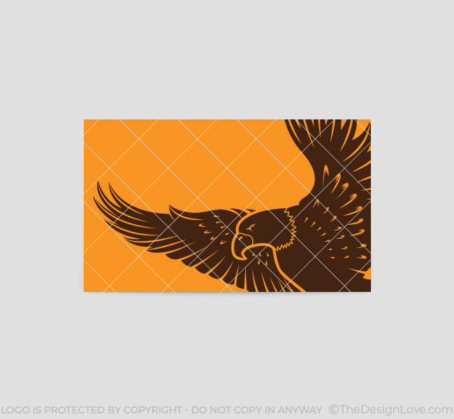 Flying eagle logo business card template the design love flying eagle business card template back altavistaventures Image collections