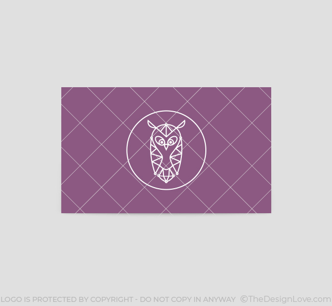 The owl logo business card template the design love the owl business card template back wajeb Gallery
