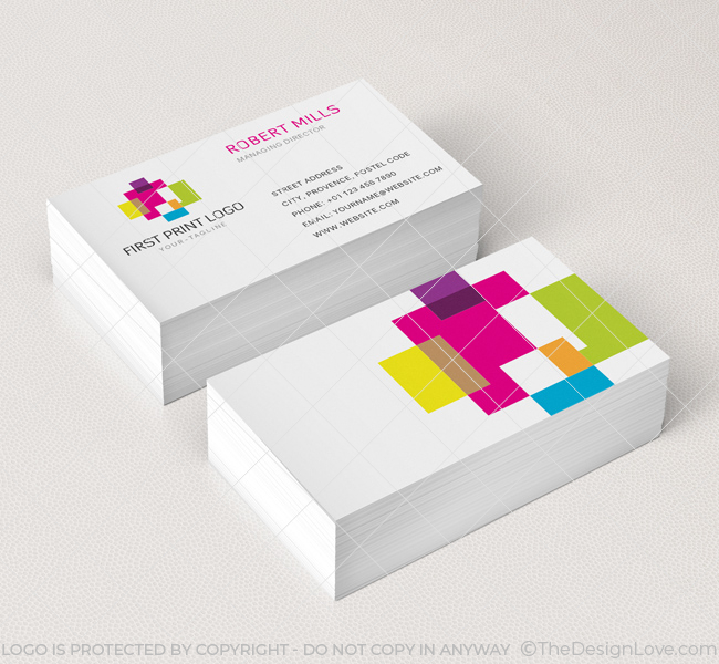 First print logo business card template the design love 082 first print logo business card template colourmoves