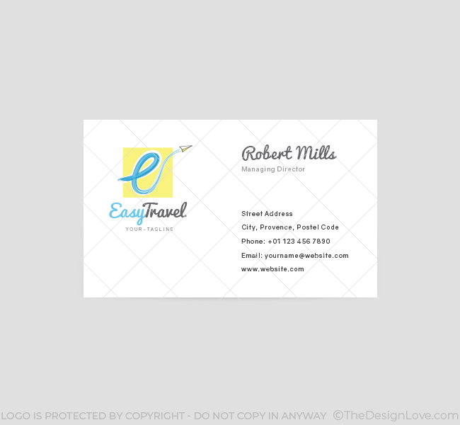 Easy travel logo business card template the design love easy travel business card template front cheaphphosting Choice Image