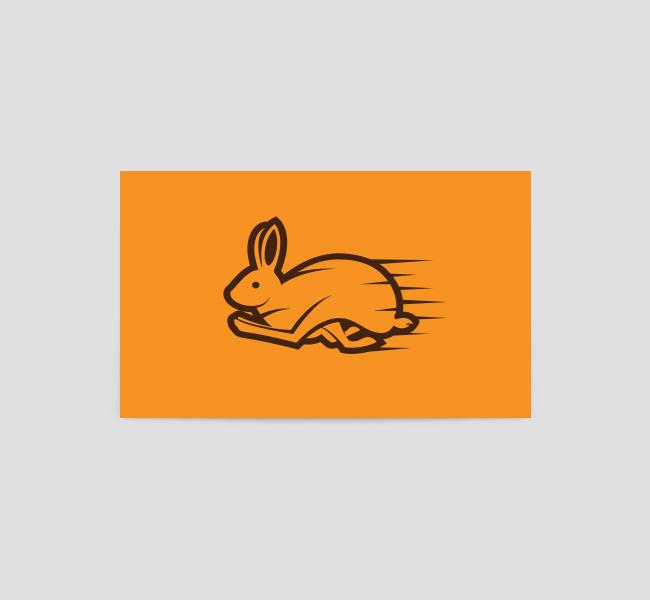 Running-Rabbit-Business-Card-Template-Back