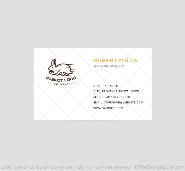Running Rabbit Logo Amp Business Card Template The Design Love