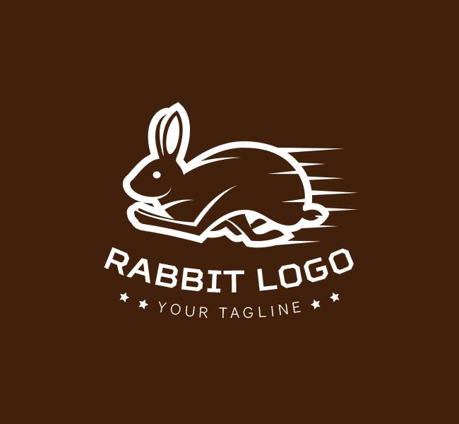 Pre-designed Running-Rabbit-Logo