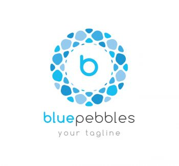 Blue Pebbles Logo & Business Card Template