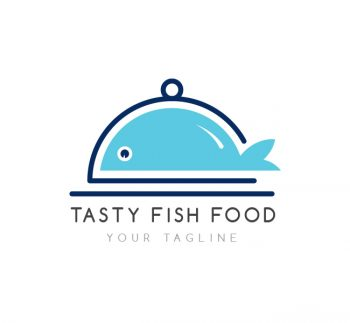 Fish Food Logo & Business Card Template