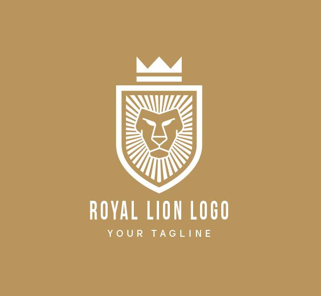 Pre-Made-Royal-Lion-Logo-White