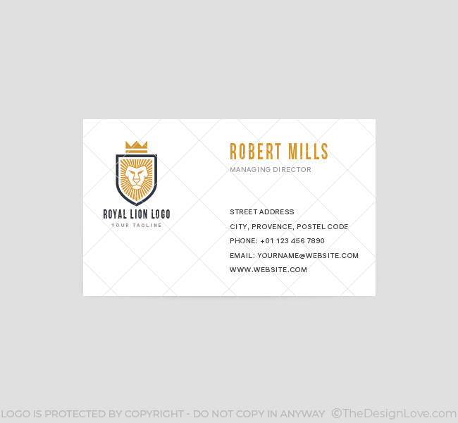 Royal-Lion-Business-Card-Template-Front
