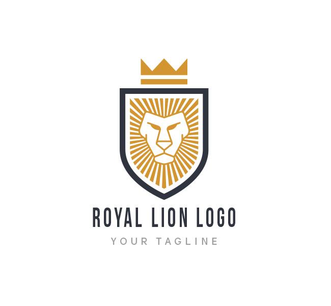 royal lion logo business card template the design love. Black Bedroom Furniture Sets. Home Design Ideas
