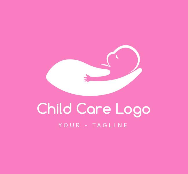 Pre-Made-Baby-Care-Logo-White
