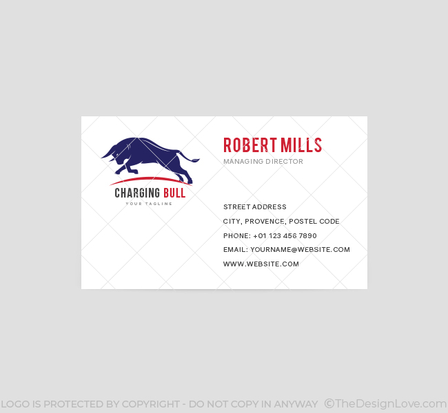 Charging-Bull-Business-Card-Template-Front