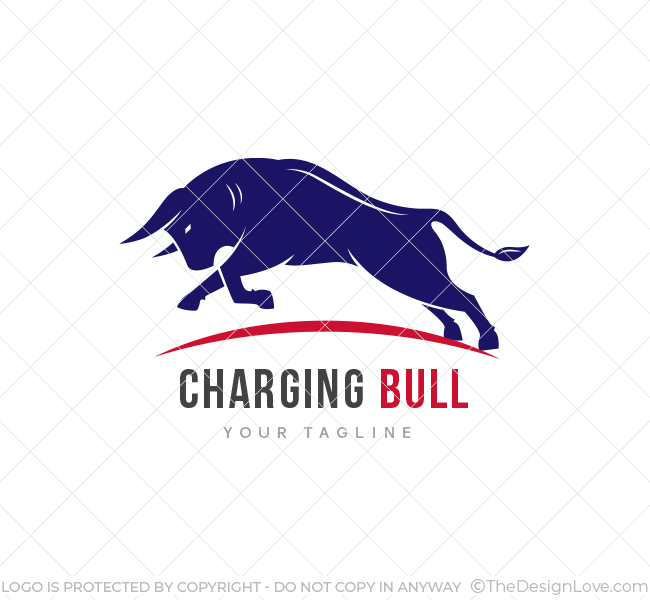 Charging Bull Logo & Business Card Template - The Design Love
