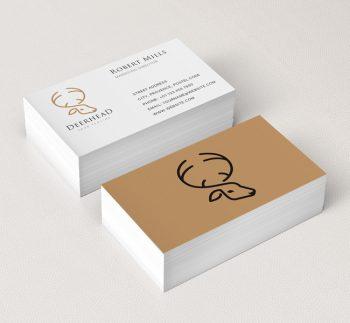 Deer-Head-Business-Card-Mockup
