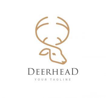 Deer Head Logo & Business Card Template