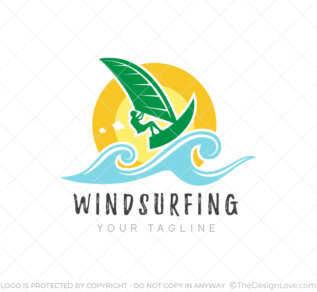 Windsurfing Logo Amp Business Card Template The Design Love