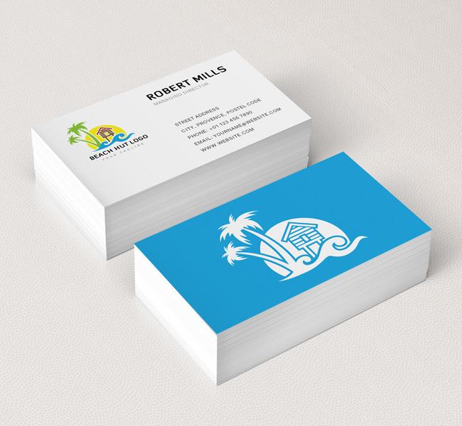 Beach-Hut-Business-Card-Mockup