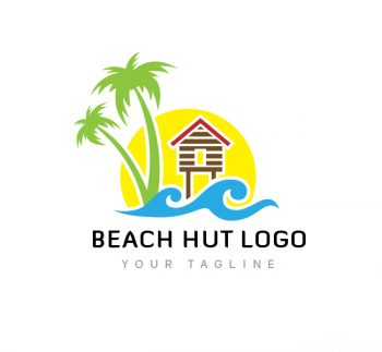 Beach Hut Logo & Business Card Template