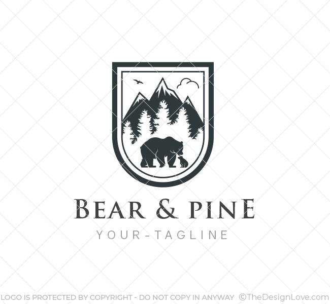 Bear Logo Amp Business Card Template The Design Love
