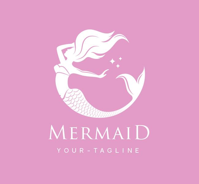 Pre-Made-Mermaid-Logo